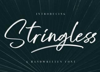 Stringless Brush Font