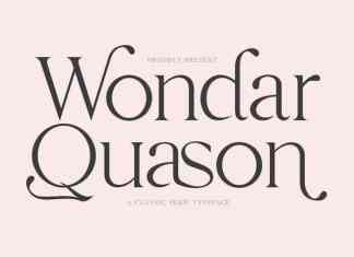 Wondar Quason Serif Font