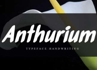 Anthurium Brush Font