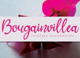 Bougainvillea Handwritten Font
