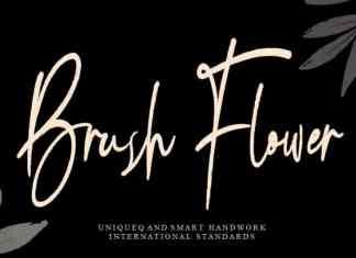 Brush Flower Handwritten Font