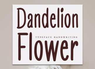 Dandelion Flower Display Font