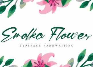 Emolka Flower Script Font