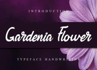 Gardenia Flower Script Font