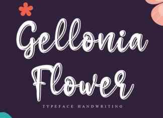 Gellonia Flower Script Font