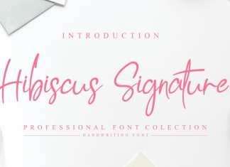 Hibiscus Signature Font