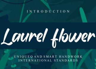 Laurel flower Script Font