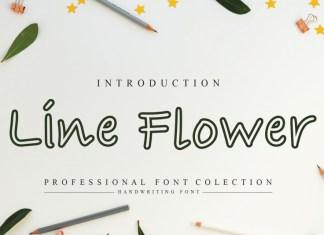 Line Flower Display Font