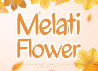 Melati Flower Brush Font
