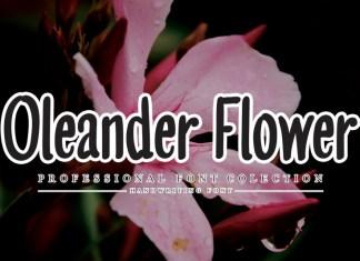 Oleander Flower Script Font