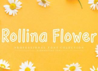 Rollina Flower Display Font