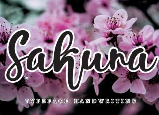Sakura Script Font