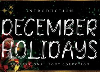 December Holidays Display Font