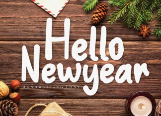 Hello New Year Display Font