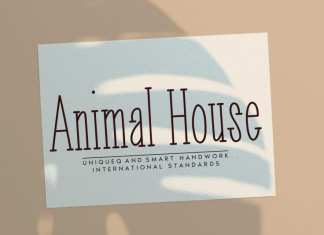 Animal House Display Font