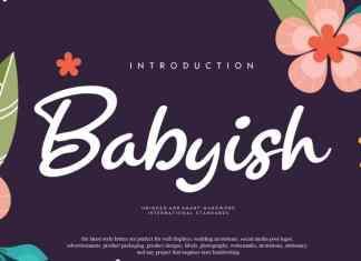 Babyish Script Font