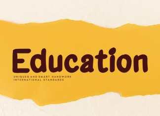 Education Display Font
