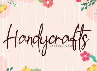 Handycrafts Handwritten Font