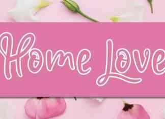 Home Love Script Font