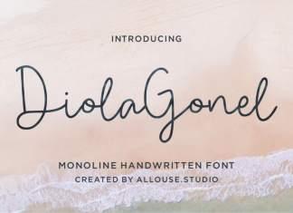 Diola Gonel Handwritten Font