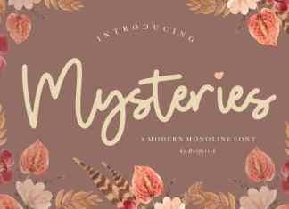 Mysteries Monoline Font