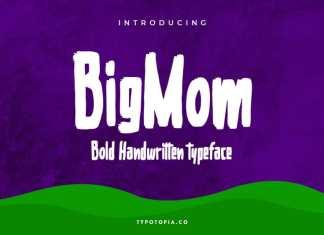 Bigmom Bold Handwritten Font