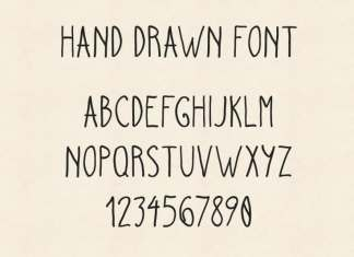 Hand Drawn Script Font