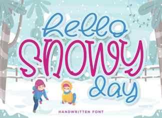 Hello Snowy Display Font