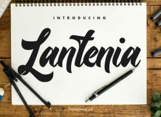 Lantenia Modern Script Font