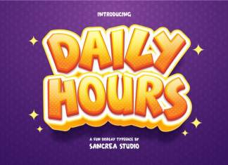 Daily Hours Display Font