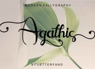 Agathis Calligraphy Font