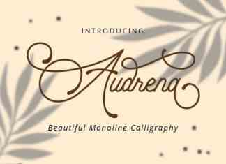 Audrena Script Font