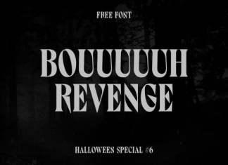 Bouuuuuh Revenge - Display Font