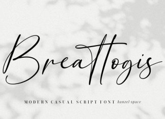 Breattogis Handwritten Font