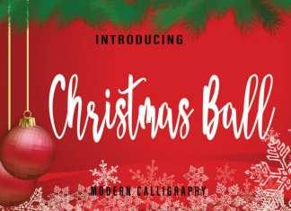 Christmas Ball Script Font