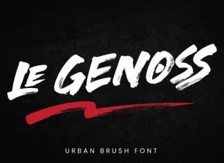 le Genoss Brush Font