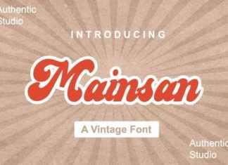 Mainsan Script Font