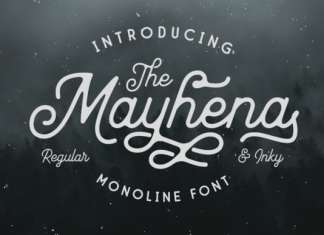 Mayhena Inky Script Font