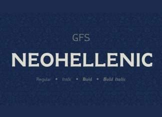 NeoHellenic Serif Font