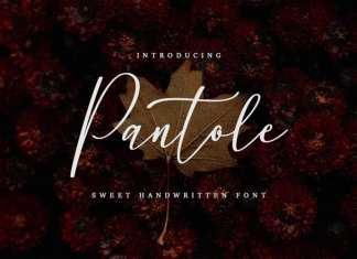 Pantole Script Font