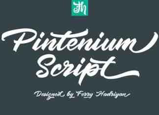 Pintenium Brush Font