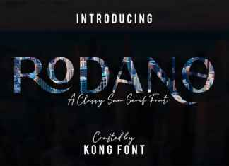 Rodano Display Font