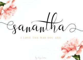 Sanantha Calligraphy Font