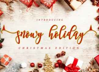 Snowy Holiday Calligraphy Font