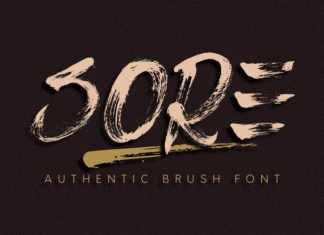 Sore Brush Font