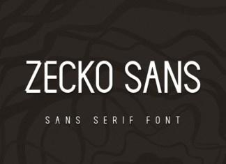 Zecko Sans Serif Font