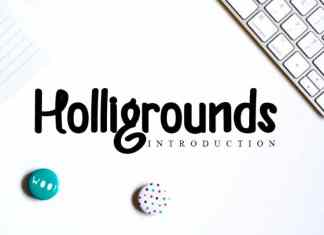 Helligrounds Display Font