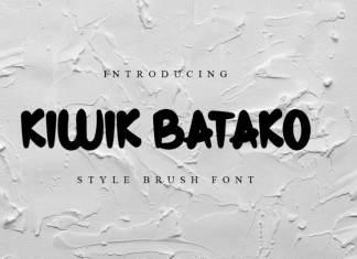 Kiwik Batako Display Font