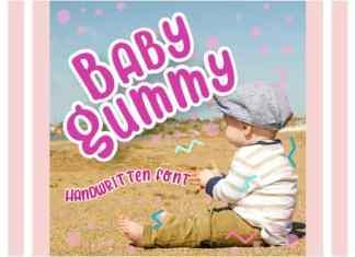 Baby Gummy Display Font