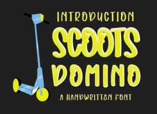Scoots Domino Display Font